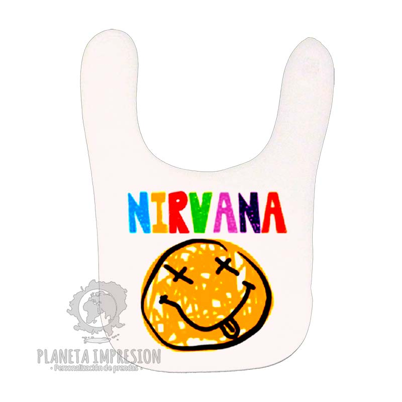 3af1ec8230a61 Babero Blanco Nirvana Smile