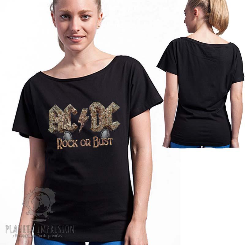 8e47e8201 Camiseta Cuello de Barco ACDC  Rock or Bust